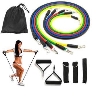Bộ 5 dây đàn hồi tập thể hình cao cấp - dụng cụ tập gym - thể thao, Dụng Cụ Tập Gym Tại Nhà, Mua Ngay Bộ 5 Dây Đàn Hồi Tập Thể Hình, Nhiều Tư Thế Khác Nhau, Nhỏ Gọn, Dễ Sử Dụng, Tiện Lợi thumbnail