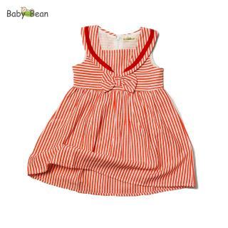 Đầm Cotton Sọc Cổ Thuỷ Thủ bé gái BabyBean thumbnail