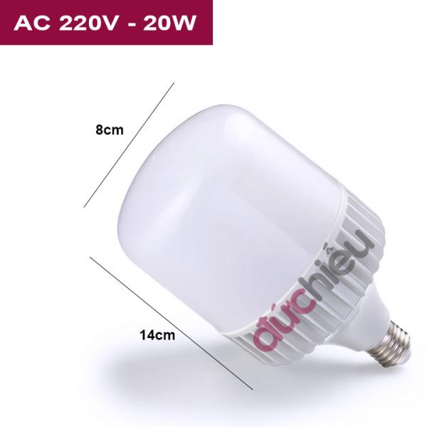 [ BH 12 tháng ] Bóng đèn LED bulb trụ 20w 30w 40w 50w - Đức Hiếu Shop