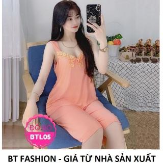 Đồ Bộ Mặc Nhà Vải Thun Lạnh Mền Mát - BT Fashion (LẠNH - LỮNG Ren) DN3 thumbnail