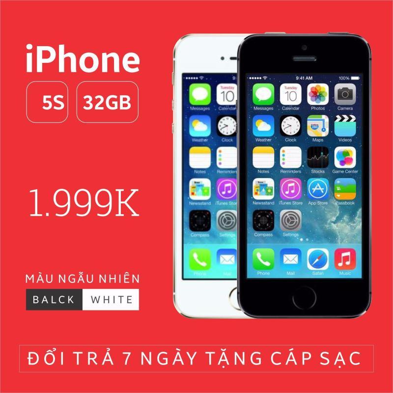 Điện thoại smart phone giá rẻ IPHONE 5S - 32GB phiên bản quốc tế - Chính hãng Apple - Bao đổi trả không điều kiện (Màu ngẫu nhiên trắng/đen)