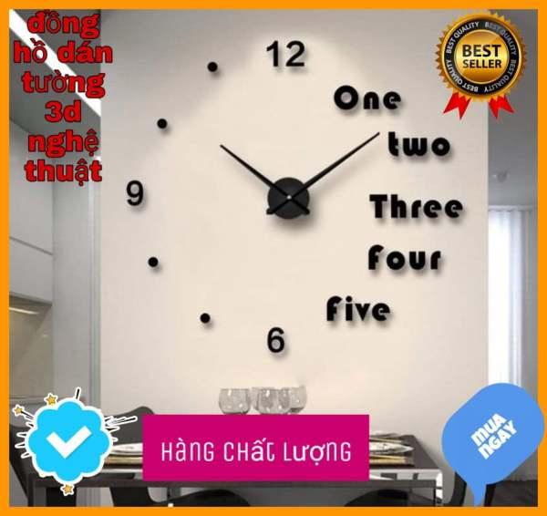 Nơi bán Bộ Đồng Hồ Dán Tường , đồng hồ Treo Tường 3D Sang Trọng Kiểu Châu Âu DIY- đồng hồ trang trí nghệ thuật - Thiết Kế Đơn Giản Độc Đáo - Đảm Bảo Chất Lượng