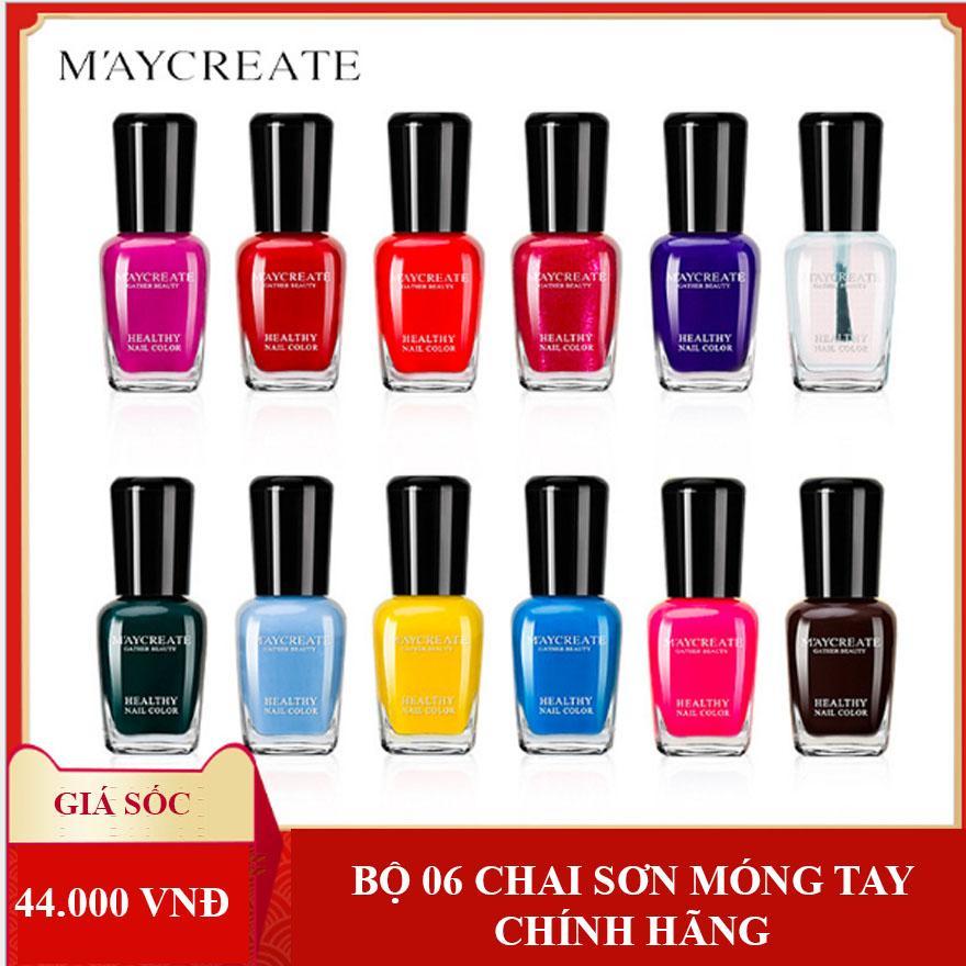 Bộ 06 chai sơn móng tay cao cấp - MayCreat (Đủ mã màu lựa chọn) tốt nhất