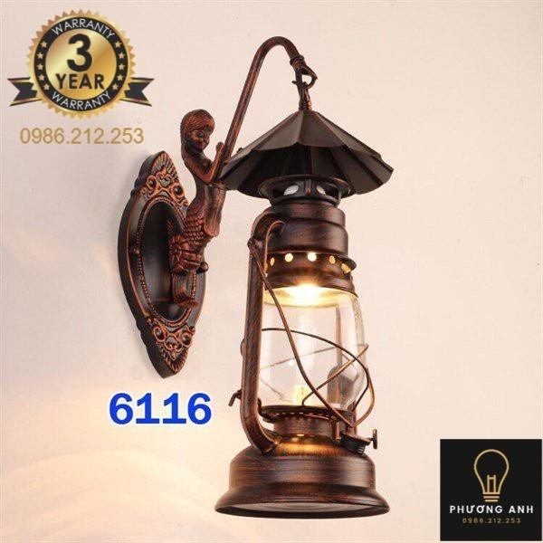 Bảng giá Đèn gắn tường đèn dầu bão trang trí nội ngoại thất phòng khách phòng ngủ, hành lang mã 6116- Đèn Phương Anh