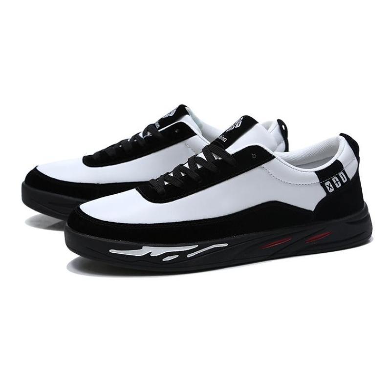 Giày Sneaker Nam Thời Trang BAZAS BZ006TD Trắng Đen
