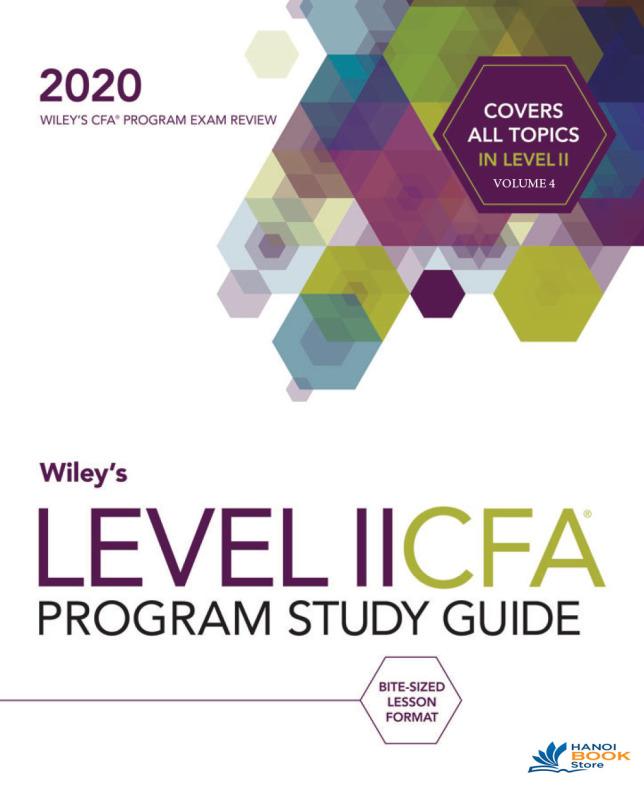 CFA 2020 L2 wiley study guide V4 - Hanoi bookstore