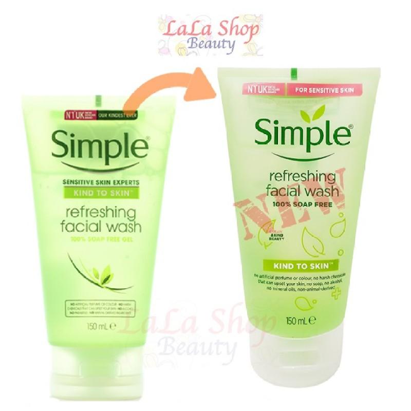 Sữa rửa mặt Simple Kind to Skin Refreshing Facial Wash cao cấp