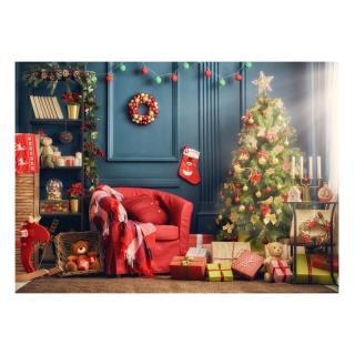 Quà Tặng Cây Giáng Sinh Vui Vẻ Chân Dung Lò Sưởi Cho Trẻ Em, Phông Nền Chụp Ảnh Phông Nền Chụp Ảnh, Cho Studio Ảnh thumbnail