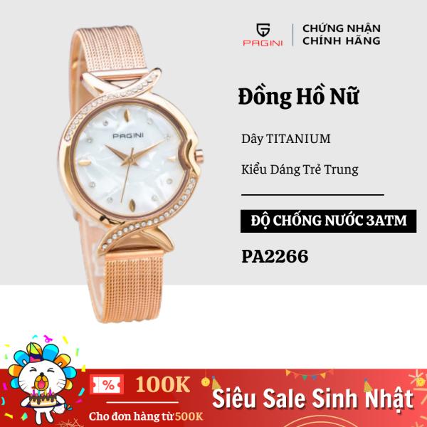Nơi bán Đồng Hồ Nữ PAGINI PA2266 Dây Titanium Mặt Đá Cẩm Thạch