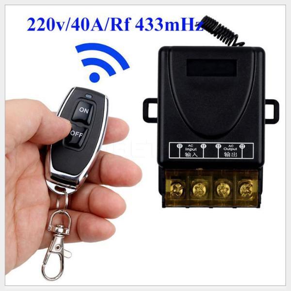 Công tắc điều khiển từ xa 100m/3000W/220v bật tắt thiết bị điện từ xa-remote học lệnh