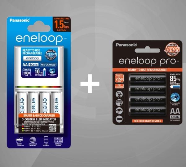 Giá Bộ Sạc Nhanh Panasonic Eneloop BQ CC55 Kèm 8 Pin Eneloop - Hàng Chính Hãng