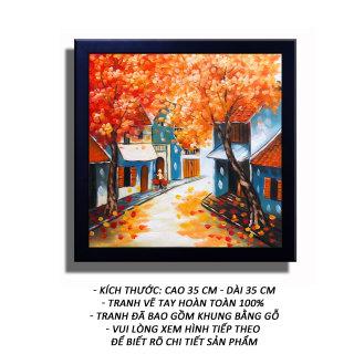 Tranh Sơn Dầu - Gánh Hàng Rong 02 - Tranh Minh Hiền (VẼ TAY 100% - KHUNG GỖ) thumbnail