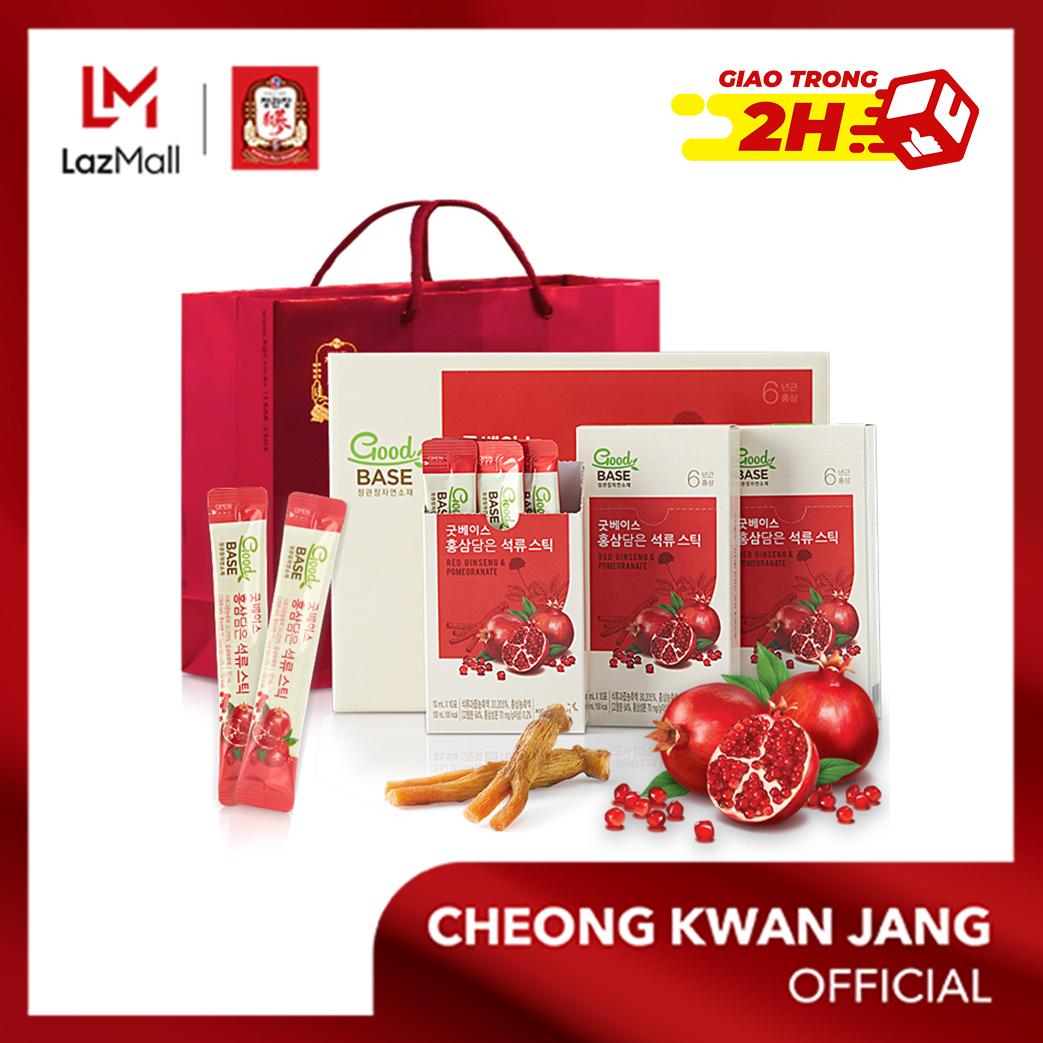 Good Base Hồng sâm chứa lựu  KGC Cheong Kwan Jang 10ml x 30 gói - Chống lão hóa, làm đẹp da, tốt cho phụ nữ