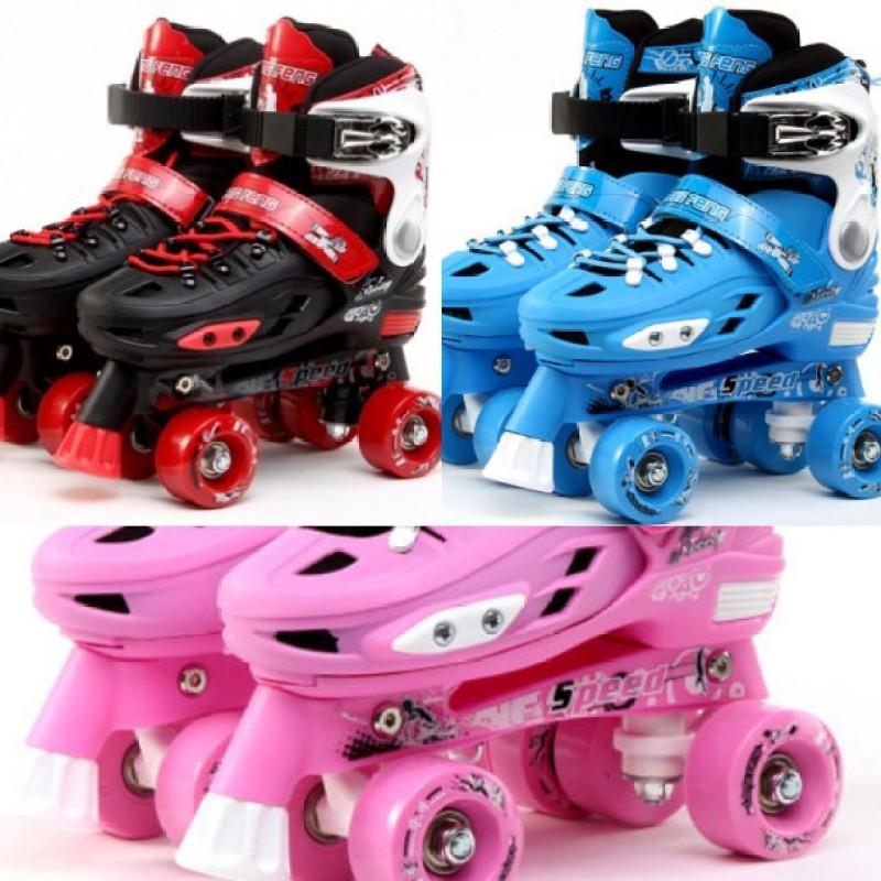 Phân phối Giày trượt Patin  hai hàng 4 bánh dễ thăng bằng không lo té ngã   chỉnh được size
