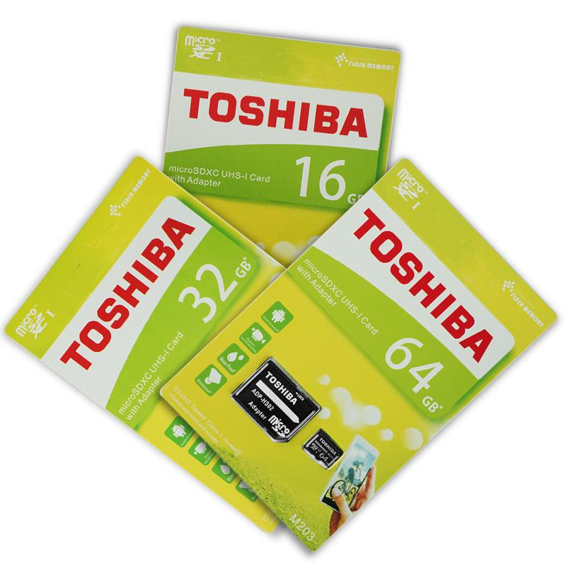 Giá Thẻ nhớ Toshiba 16GB/32GB/64GB Trải nghiệm dung lượng bộ nhớ mới/Tốc độ đọc 100MB/S Thẻ nhớ Micro SD thích hợp nhiều loại thiết bị