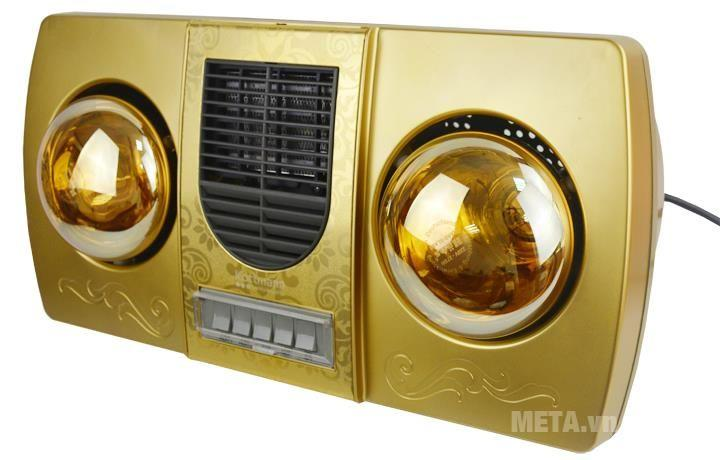 Đèn sưởi nhà tắm Kottmann thổi gió nóng bạc K2B - HW - G