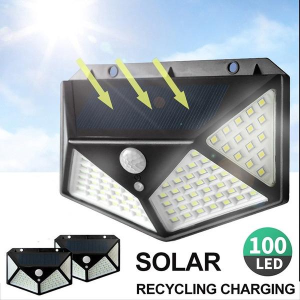 Đền năng lượng mặt trời Solar Light 100 Led Chống nước, Bảo hành 1 đổi 1