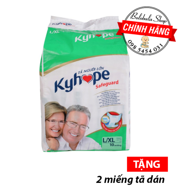 Tã dán người già Kyhope Safeguard M10, L/XL10 nhập khẩu