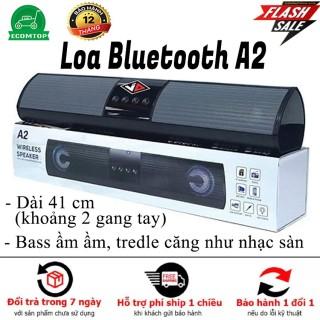 [HÀNG HOT]Loa bluetooth speaker A2 dáng dài 2 loa cực đỉnh, kiểu dáng sang trọng hỗ trợ thẻ nhớ, đài FM, âm bass âm treble rõ ràng thumbnail
