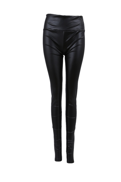 Giá bán Sexy Ladies High Waist Wet Look Faux Leather Leggings Pants Tights