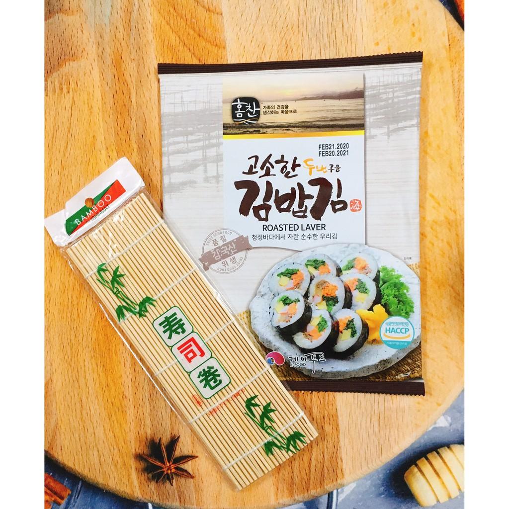 Rong biển cuộn cơm K-Food 10 lá kèm mành tre