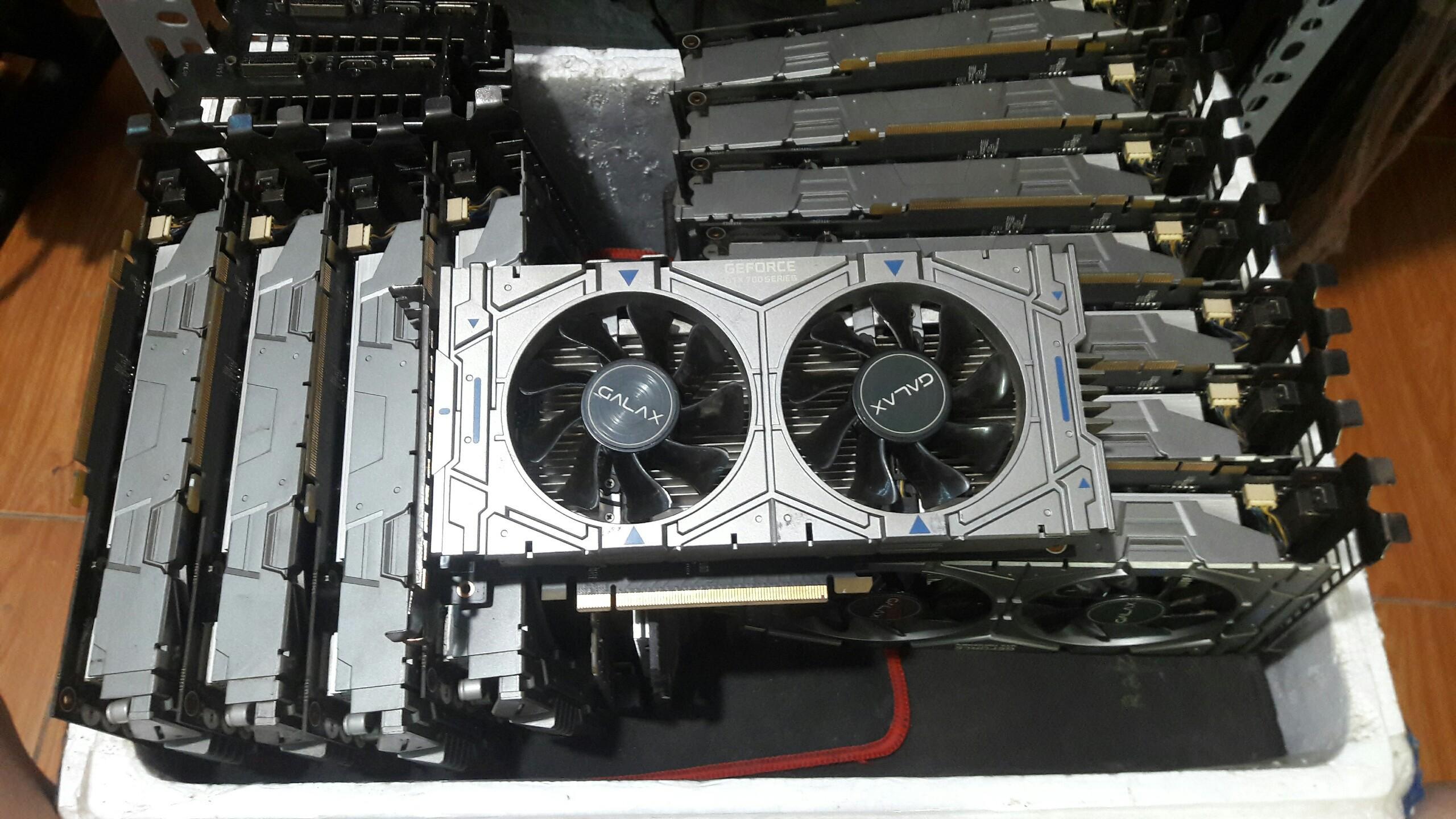 Card màn hình Galaxy GTX 750 DDR5 2 FAN có nguồn phụ cực trâu