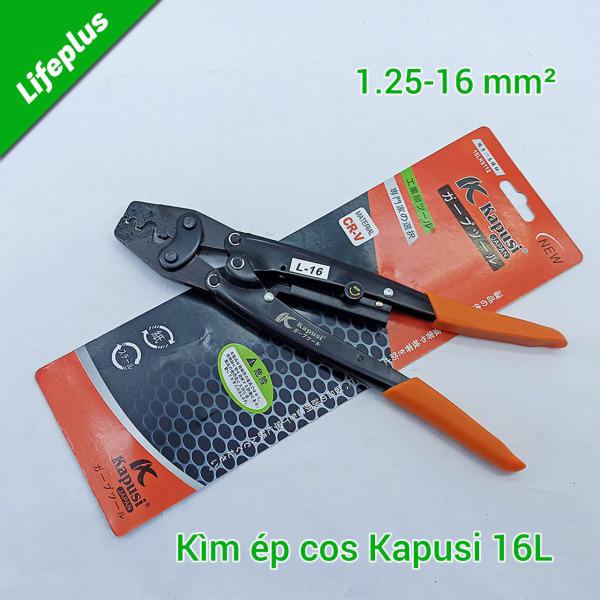 Kìm bấm cos 16L Kapusi Nhật Bản 1.25-16 mm²