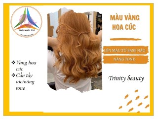 Thuốc nhuộm tóc hàn màu VÀNG HOA CÚC tặng kèm oxy+lược+gang tay thumbnail
