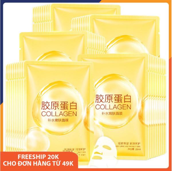 Combo 5 mặt nạ giấy dưỡng da Collagen LizeeaA giúp da sáng màu, dưỡng ẩm, làm săn và tăng độ đàn hồi, se khít lỗ chân lông, chống lão hóa, cấp nước, phục hồi da, mặt nạ dưỡng da trắng Melystore SPU064