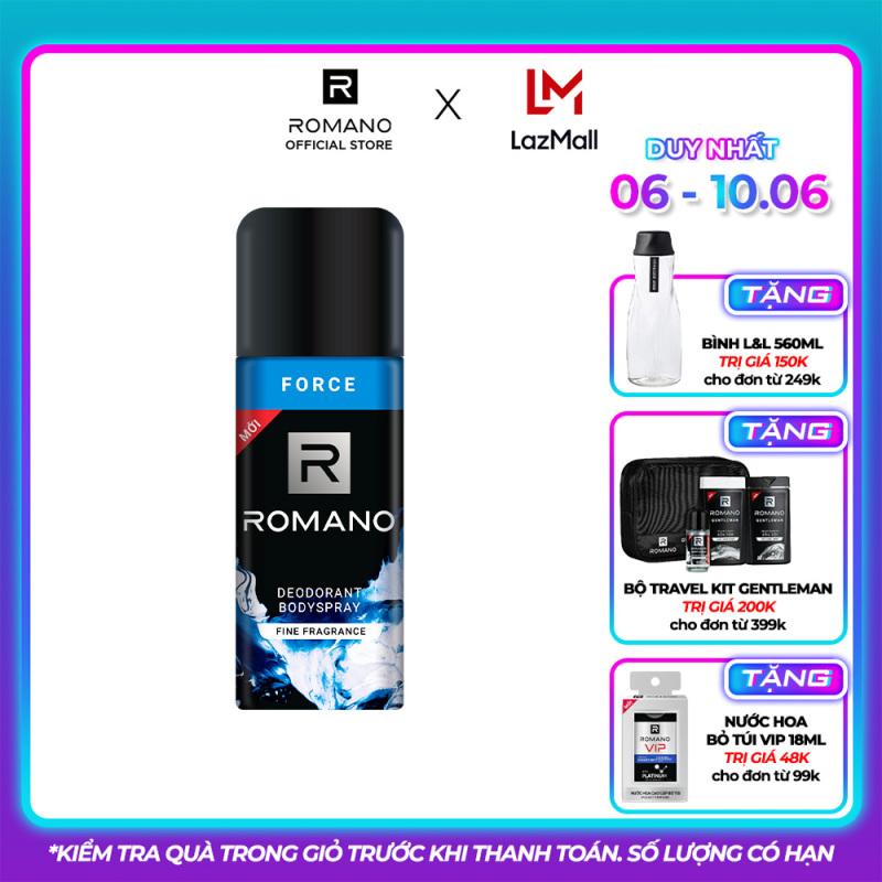 Xịt khử mùi toàn thân Romano Force 150ml