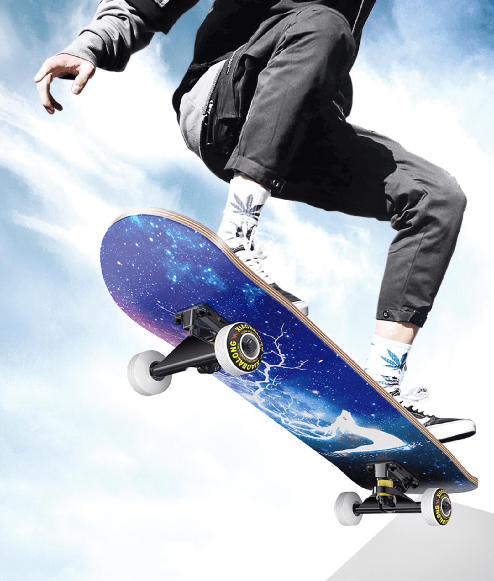 Mua [ SIÊU HOT  ] Ván trượt Skateboard cao cấp mặt nhám , Ván trượt mặt nhám bánh cao su cỡ lớn (Đạt chuẩn thi đấu) , VÁN TRƯỢT THỂ THAO GỖ PHONG ÉP 7 LỚP MẶT NHÁM KT 70x20c10cm , chịu lực 100kg . LỖI 1 ĐỔI 1