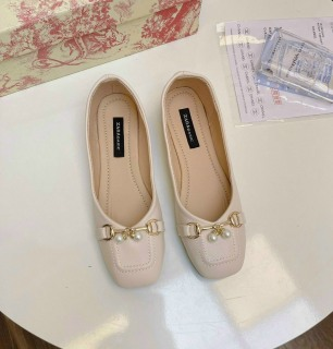 Giày búp bê nữ phối khóa ngọc chất đẹp êm chân 4