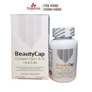Viên uống bổ sung Collagen Vitamin AEC B5 BeautyCap giúp làm đẹp da chống lão hoá 120 viên thumbnail