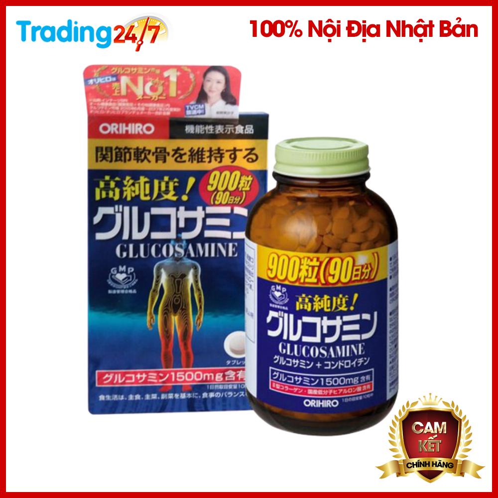 Mã Giảm Giá tại Lazada cho Viên Xương Khớp Glucosamine Orihiro 1500mg 900 Viên Nhật Bản