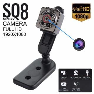[ SIÊU SALE ] Camera Mini SQ8 HD1080P Giá Siêu Rẻ, Với kích thước nhỏ gọn chỉ bằng 1 đồng xu, Hình Ảnh Rõ Nét Quay Cả Ngày, Đêm, Camera Giúp bạn ngụ.y trang cúc áo, móc chìa khóa. Lắp đặt trên xe hơi, xe đạp, Thay Camera hành trình thumbnail