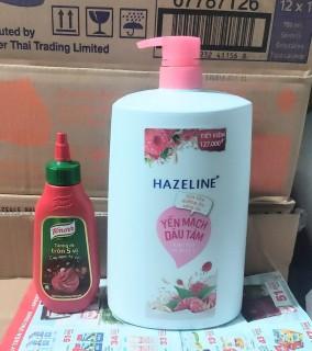 sữa tắm hazeline yến mạch dâu tằm 1.2Kg tặng tương ớt thumbnail