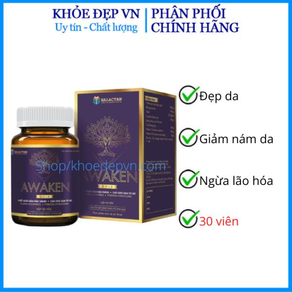 HSD 2023 - Trắng da toàn thân collagen Awaken 30 viên giúp da trắng khỏe đẹp giữ nét thanh xuân HSD 2023 -  chuẩn GMP cao cấp