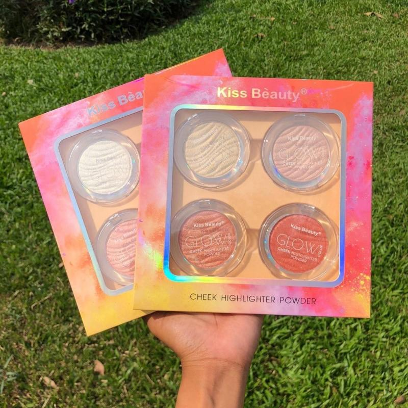 Set Má hồng & Bắt sáng Cheek Highlighter GLOW HOT