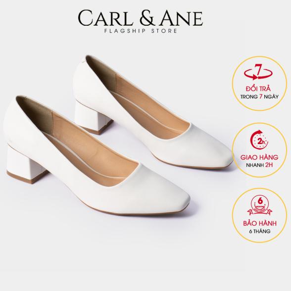 Carl & Ane - Giày cao gót thời trang nữ bít mũi kiểu dáng cơ bản cao 5cm CP004 (WH) giá rẻ