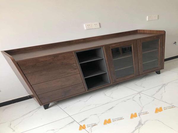 Giá bán Tủ gỗ An Nhiên hiện đại góc cạnh sắc nét phù hợp căn hộ xứng đáng đồng tiền bỏ ra Gỗ MDF loại cao cấp độ dày 17mm chất lượng gỗ vượt trội Mẫu mới hiện đại G236