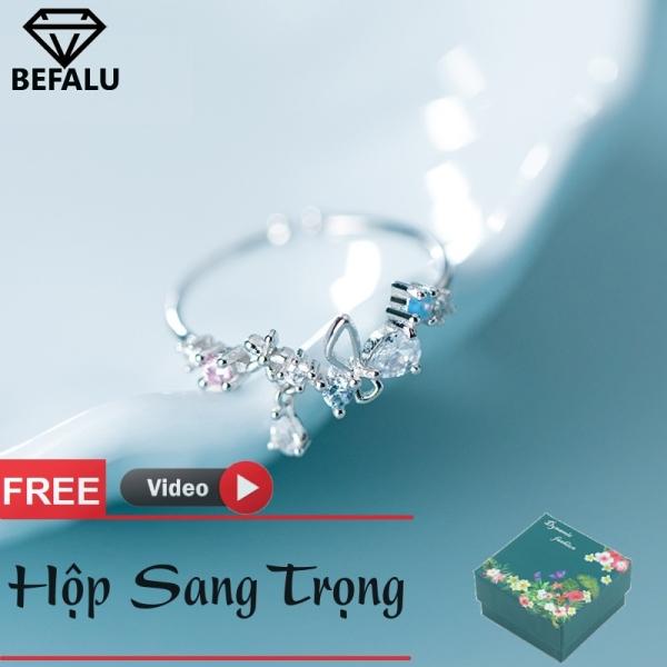 Nhẫn Nữ Bạc 925 Phong Cách Hàn Quốc N01 Freesize- BEFALU