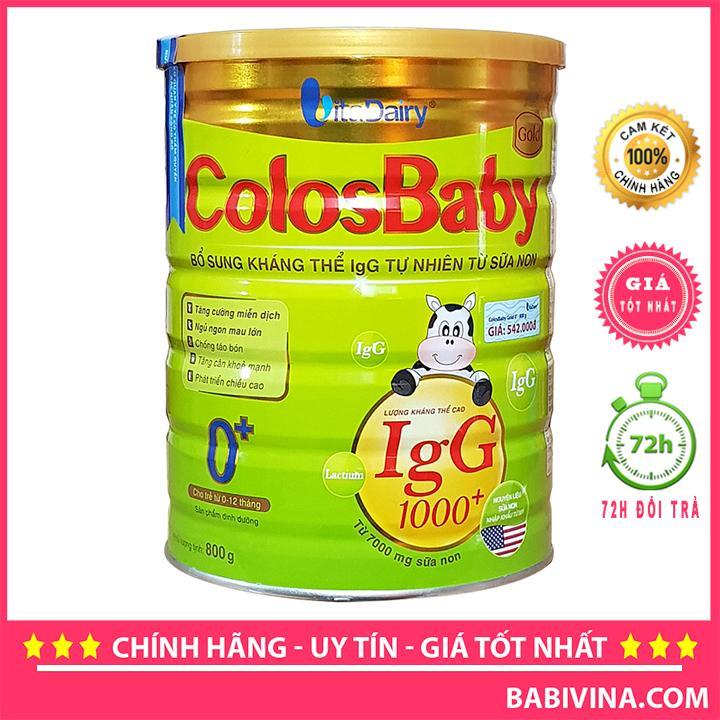 Sữa Non ColosBaby Gold Số 0 800g 1000IgG Cho Trẻ...