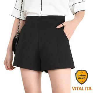 Quần Short nữ lưng cao khóa sau giọt lệ chất vải tuyết mưa - MIX đồ công sở đi chơi cực Xinh & Sang SchoolF thumbnail