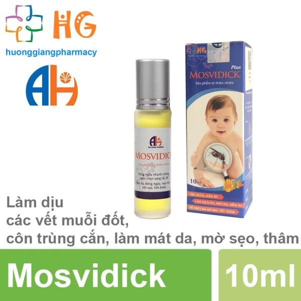 Mosvidick - Lăn  muỗi đốt, côn trùng cắn an toàn cho bé (Lọ 10ml)
