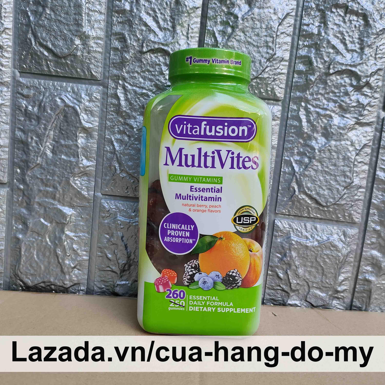 Kẹo dẻo vitamin tổng hợp Vitafusion MultiVites 260 viên Mỹ - Gummy vitamins Essential Multivitamin