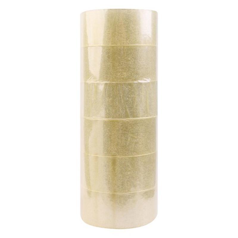 Combo 6 cuộn băng keo trong loại lớn 100 Yard, 48mm, trọng lượng 1000g Nhật Bản