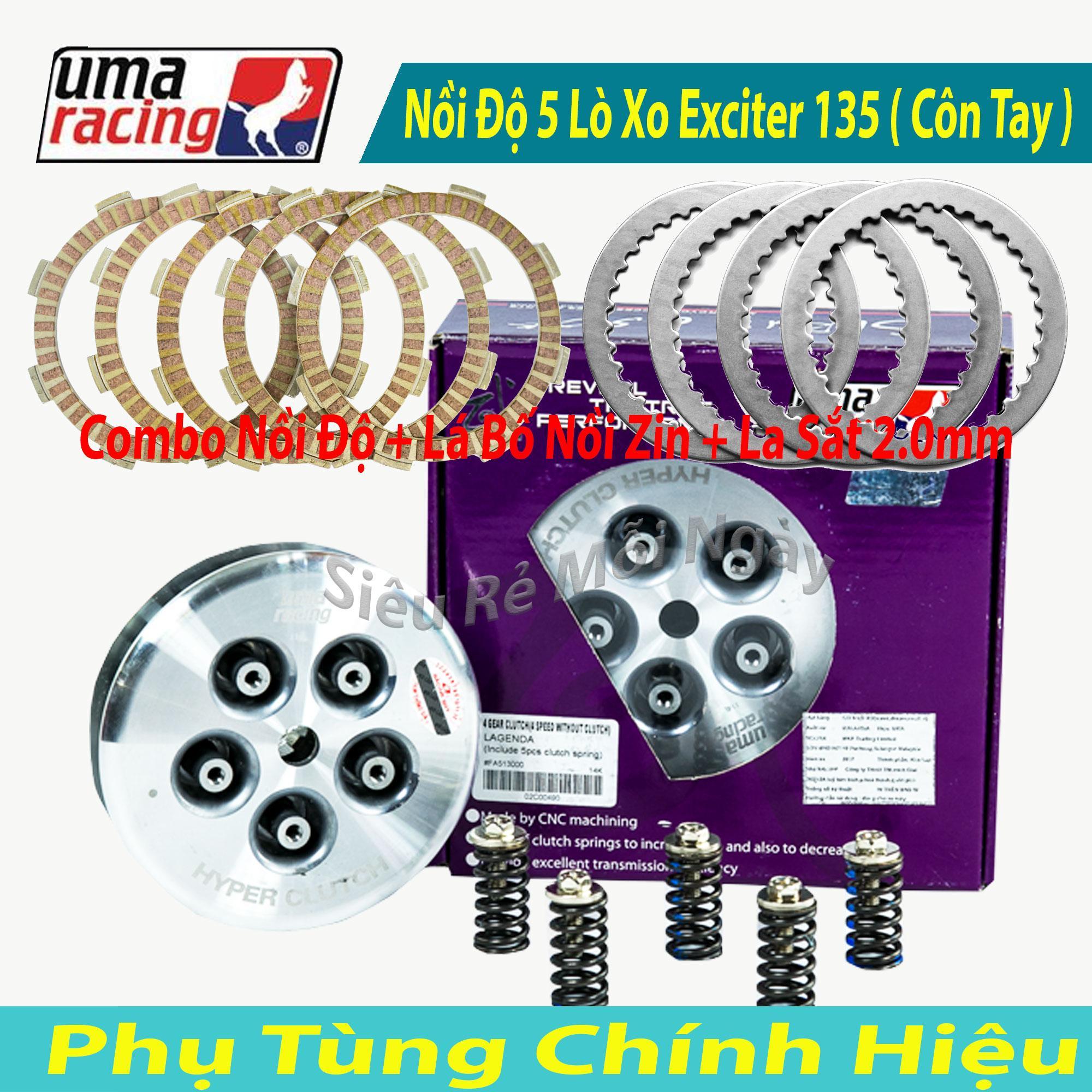 Giá Tiết Kiệm Để Sở Hữu Ngay Full Bộ Nồi Độ Uma Racing 5 Lò Xo Dùng Cho Exciter 135cc Côn Tay