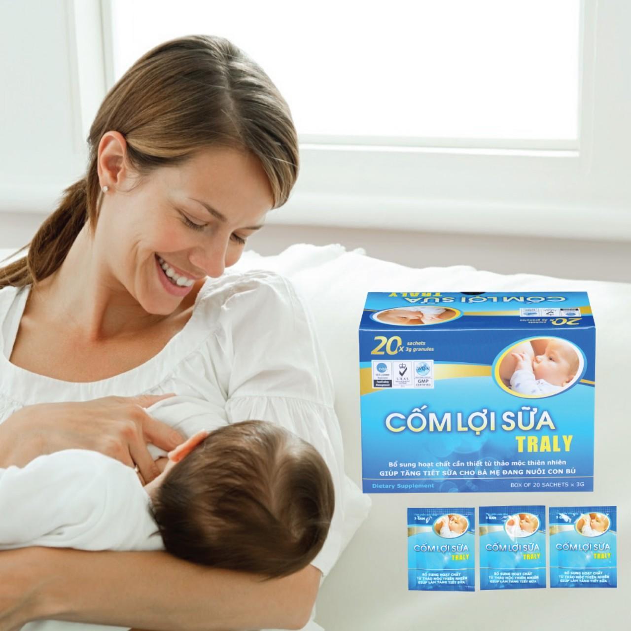 Cốm lợi sữa traly-an toàn, hiệu quả nhập khẩu
