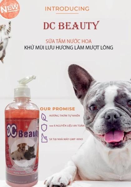 [HCM]Sữa tắm chó mèo dưỡng mượt da lông phòng và giảm ghẻ DC Beauty 500ml cao cấp