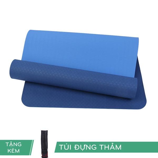 Thảm Tập Yoga Rl Eco Tpe 6Mm 2 Lớp - Xanh Dương + Tặng Kèm Túi